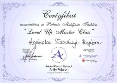 Leve Up Master Class Agnieszka Słabończyk Przepiera Certyfikat
