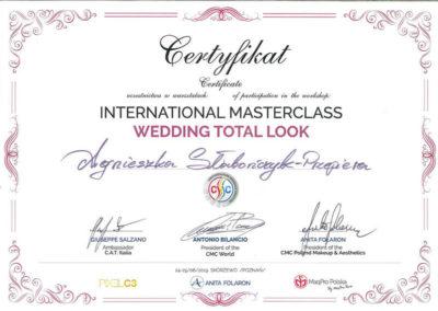 Wedding Total Look International MasterClass Agnieszka Słabończyk Przepiera Certyfikat